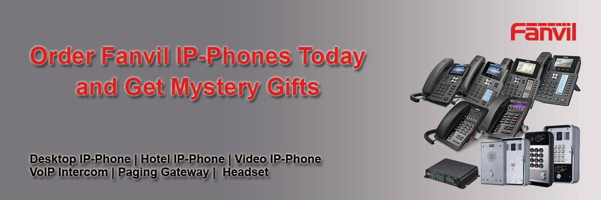Buy Fanvil products and get mystery gifts